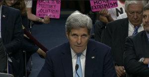 John Kerry addresses Code Pink